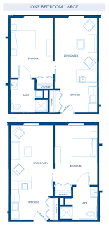 large one bedroom floor plans madison senior living community the range