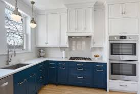 blue gray painted kitchen cabinets 31 awesome blue kitchen cabinet ideas home remodeling