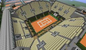 minecraft sports stadium 1 2 5 roland garros 12000 downloads maps mapping and