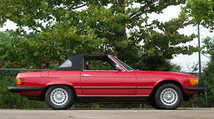 classic red mercedes 1979 mercedes benz 450sl convertible f99 dallas 2016