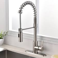satin nickel kitchen faucet touch on kitchen sink faucets ufaucet commercial modern high