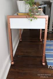 Paint Wood Furniture by Diy Faux Copper Table