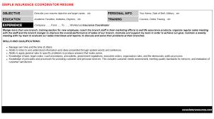 Insurance Resume Cover Letter Insurance Coordinator Cover Letter U0026 Resume