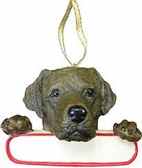 chocolate labrador ornament santa s pals with