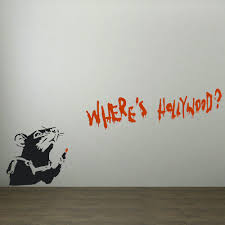 online get cheap banksy rats wall decal aliexpress com alibaba large wall stickers banksy rat hollywood art transfer decal