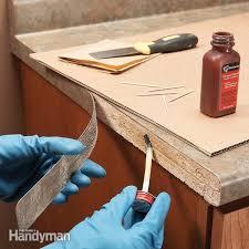 best glue for laminate cabinets laminate repair tips reglue loose laminate family handyman