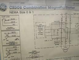 ge combination magnetic starter cr308 600v max complete enclosure