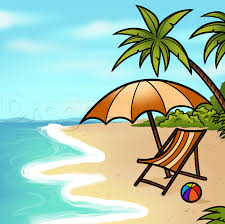 how to draw a beach scene step by step other landmarks u0026 places