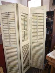 Shutter Room Divider Upcycled Antique Shutters Turned Into A Room Divider Dressing