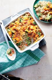 quinoa thanksgiving stuffing cheesy sausage broccoli and quinoa casserole recipe myrecipes