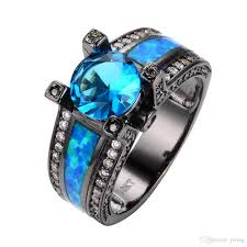 blue opal engagement rings 2017 jewelry blue opal engagement rings light blue