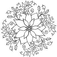 poinsettia coloring pages large poinsettia u0026 holly 3