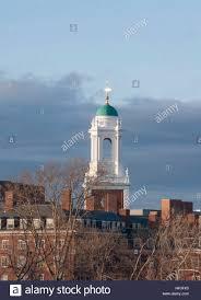 eliot house bell tower in harvard university cambridge stock