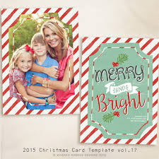 2015 christmas card templates vol 17 7x5 inch card template