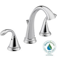 delta zella 8 in widespread 2 handle bathroom faucet in chrome