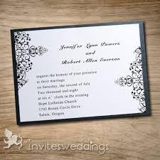 layered wedding invitations classic swirls black layered wedding invites iwfc029 wedding