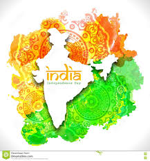 Map India India Map For Indian Independence Day Stock Illustration Image