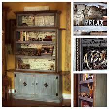 1960 u0027s upscaled designer bookcase hutch cupboard the distressed
