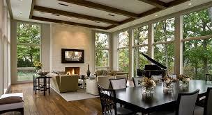 Amazing Interior Living Room Design With Nature View Via - Nature interior design ideas