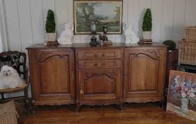 antique french country louis xv buffet sideboard server 3 door