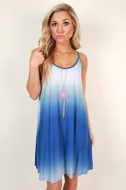 beach vibes ombre shift dress in blue u2022 impressions online boutique