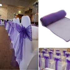 wedding chair covers and sashes 30pcs lot wedding organza 18 x 275cm organza chair cover sashes