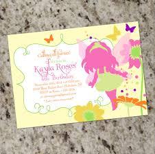 fairy garden party birthday invitation printable design