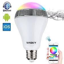 led light bulb speaker nasky wireless bluetooth 4 0 e27 led light l bulb speaker