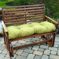 Swings And Gliders Patio Furniture by Porch Swing Cushion Glider Bench Seat 52 In Tufted Padding