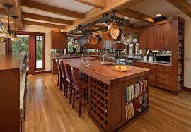 Kitchen Islands With Wine Racks Red Oak Wood Harvest Gold Windham Door Kitchen Island With Wine