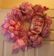deco mesh valentine u0027s day wreath pink u0026 white u2013 country craft corner