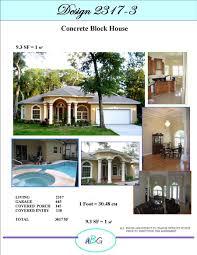 Concrete Block Home Designs House Plan 2317