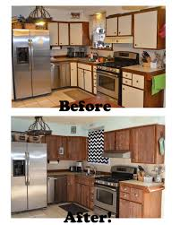 Re Laminating Kitchen Cabinets | stikwood before and after kitchen makeover ugly laminate kitchen