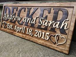 amazon com personalized wedding gift last name established sign