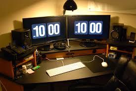 Pc Desk Ideas Corner Computer Desk For Two Monitors Desk Ideas
