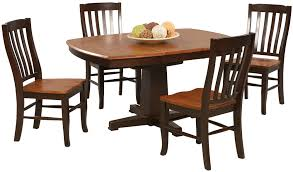 winners only santa fe chestnut espresso 5 piece dining set with