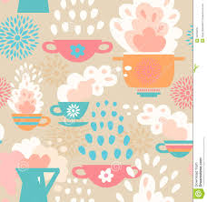 Wallpaper For Kitchen by Seamless Pattern For Kitchen Wallpaper With Coffee Royalty Free