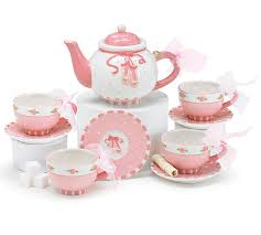tea set pink ballet shoes mini porcelain tea set