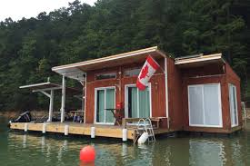 floating house on fontana lake is atlanta expats u0027 dream come true