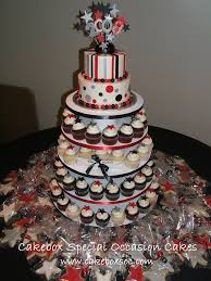 graduation cupcake ideas graduation cupcake tower buttercream tiered cake with fond flickr