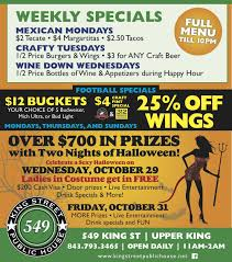 join king street public house for two nights of halloween fun
