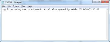 log files using vba in microsoft excel microsoft excel tips from