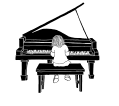 grand piano sketch new business teaching piano and asked if