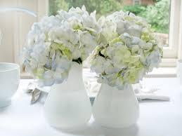 White Floral Arrangements Centerpieces by White And Blue Bridal Shower Brunch Hgtv