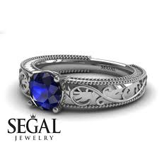 sapphire rings vintage images Victorian engagement ring 14k white gold 1 carat round cut jpg