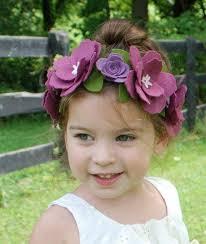 felt flower headband knitted headband with felt flower craftbnb