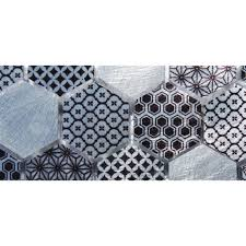 frise leroy merlin frise techno hexa gris l 5 5 x l 57 6 cm leroy merlin