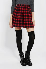 plaid skirt lyst outfitters coincidence chance pleated plaid skirt in