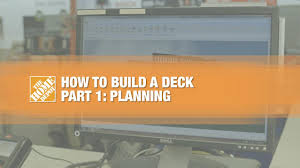 deck plans home depot how to build a deck part 1 planning the home depot canada