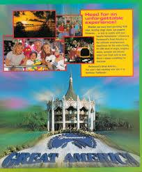 Cedar Fair Parks Map Newsplusnotes From The Vault Paramount U0027s Great America Brochure 1998